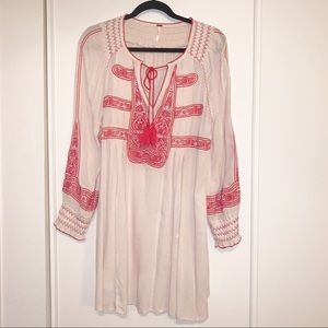 Free People Embroidered Boho Dress, Small
